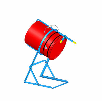 Pail Tipping Stand, Painted Carbon Steel