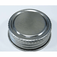"Plain Tin Screw Cap with Delta Solv Seal� Liner | 1"" Size 
