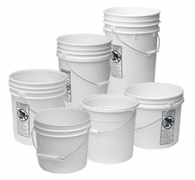 Miscellaneous Plastic Buckets, 6 Gal, 3.5 Gal, 2 Gal,  1 Gal