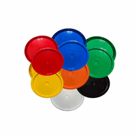 Plain Top Plastic Lids For 3-6 Gallon Plastic Buckets - 3 Pack