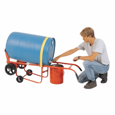 Plastic Drum Drainer Truck, Moldon Rubber Wheel Type