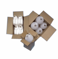 Plastic One Gallon Round & F-Style Shipper Cartons