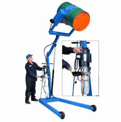 Power Tilt/Power Lift Hydraulic Lift Karrier Drum Handler, Battery,60""
