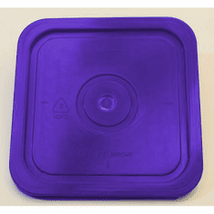"Purple Lid for Square 4 Gallon Plastic Bucket, no Gasket,18 Pack<br><font color=""#FF0000"">Free Shipping</font>"