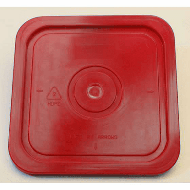 Red Lid for Square 4 Gallon Plastic Bucket,no Gasket,18 Pack