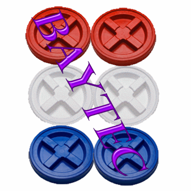 Red, White, & Blue Gamma Seal Lids- 6 Pack-