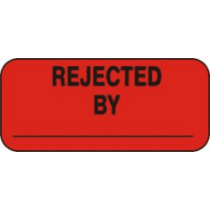 Rejected By Inventory Label  1 x 2