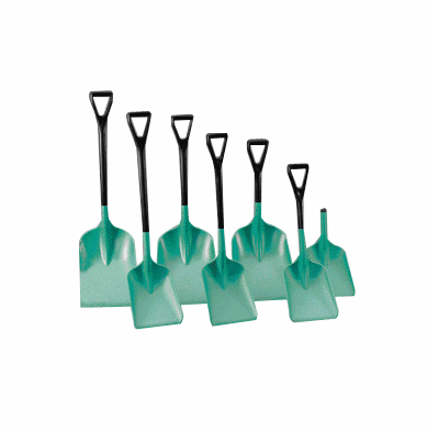 REMCO Polypropylene Safety Shovels 10 1/2 x 14  D-Grip  33""