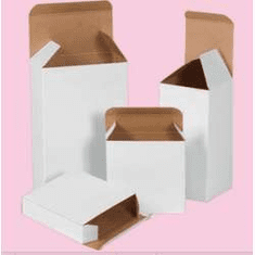 "Reverse Tuck Chipboard Cartons 1 1/2"" x 1 1/2"" x 2 1/4"","
