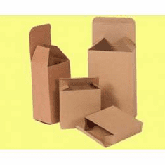 "Reverse Tuck Chipboard Cartons 2"" x 2"" x 4"","