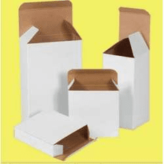 "Reverse Tuck Chipboard Cartons 3 1/2"" x 2 1/2"" x 5 1/2"","