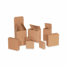 "Reverse Tuck Chipboard Cartons 4 1/4"" x 1 1/4"" x 4 1/4"""