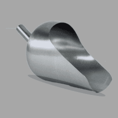 Round Back 2 Quart Sanitary Stainless Steel Scoops