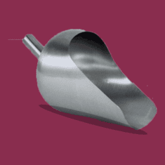 Round Back 3 Quart Sanitary Stainless Steel Scoops