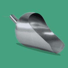 Round Back 5 Quart Sanitary Stainless Steel Scoops