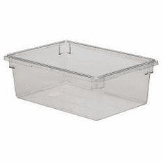 """Rubbermaid 12.5 gal Food Boxes Clear Polycarb Food Box   26"""" x 18"""" x 9"""""""