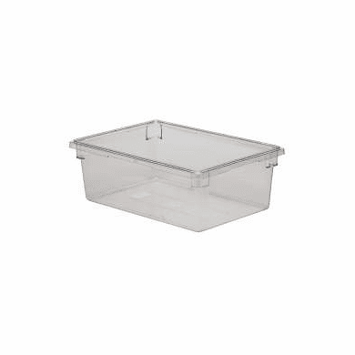 "Rubbermaid 12.5 gal Food Boxes Clear Polycarb Food Box   26"" x 18"" x 9"""