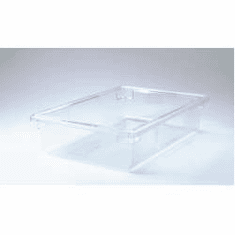 """Rubbermaid 8.5 gal Food Boxes Clear Polycarb Food Box  26"""" x 18"""" x 6"""""""