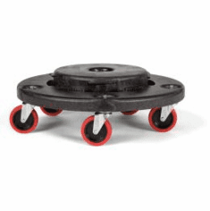 Rubbermaid BRUTE® Trainable Dolly fits round 20 - 55 gal container.