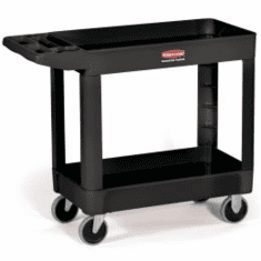 Rubbermaid Heavy-Duty Utility Service Carts  2 Shelf   45x25x33