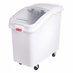 Rubbermaid Ingredient Bins Slant Front Bin Sliding Lid 32 oz Scoop 4 1/8 cu ft