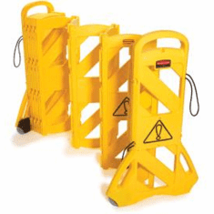 Rubbermaid Mobile Barrier Yellow  41 H x 13 L x 1 W