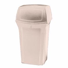 Rubbermaid Ranger Classic 35 Gallon Container with Door -Beige