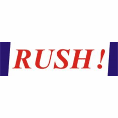Rush, mailing label