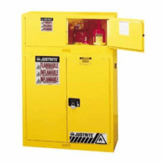 Safety Cabinets,12 gallon  Piggyback, manual  18 x 43 x 18