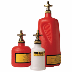 Safety Dispenser Cans Allow One-Hand Operation 8 oz. Red
