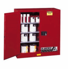 Safety Storage Cabinets Class III Combustibles Sliding self-closing door  44 x 43 x 18
