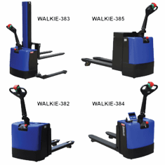 Scale Pallet Truck, Light Duty, Wide Wesco Walkie Pallet Trucks