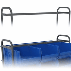 "Secure Bar for 9 Bin Cart 1 1/2"" x 59"" x 1 1/2"", Fits Cart 8R214CS1859  or 8R214CS2859"