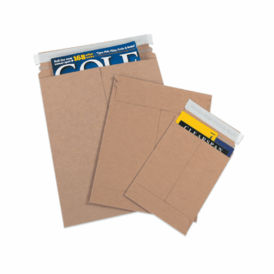 "Self-Seal White Flat Mailers 11"" x 13 1/2"", 25 Case Pack"