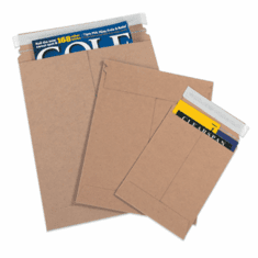 "Self-Seal White Flat Mailers 12 1/2"" x 9 1/2"", 100 Case Pack"