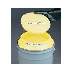 Snap-On Cover for Polyethylene Funnel for Pails