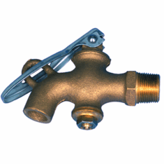 Solid Brass Drum Faucet Plain No Threads Outlet