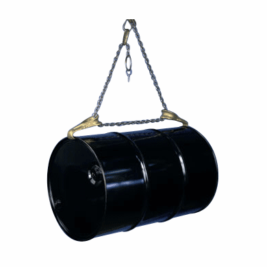 Spark-Resistant Drum Sling Lifts Drum Horizontally