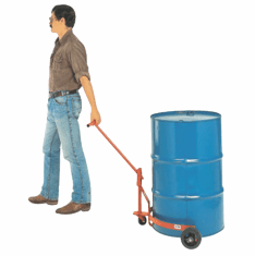 Spill Free Drum Truck for Open Drums, Moldon Rubber Wheels