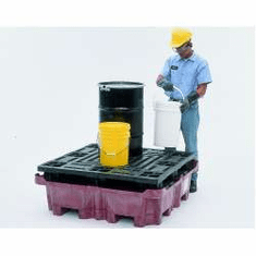 SpillKing Spill Containment System Flat Deck Pallet  51 x 51 x 17 1/2  No Drain Plug