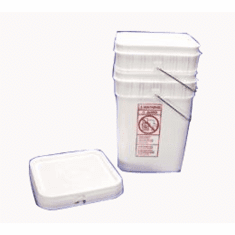 Square 4 Gallon Plastic Pail-FREE SHIPPING