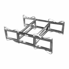 Stainless Steel Drum Rack