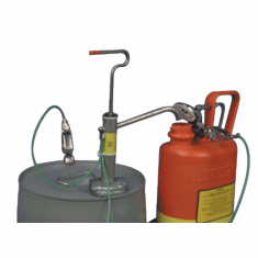 Stainless Steel Gallon Pail Pump w/ Screw Cap Adapters