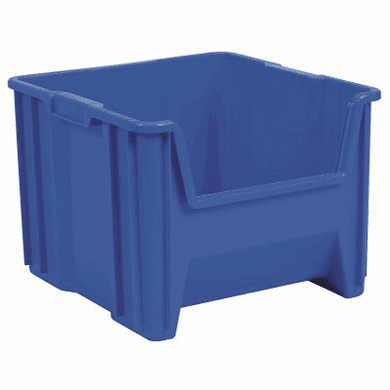 """Stak-N-Store Container Bin -2 PACK- Blue-LARGE<br>OD: 12-1/2""""H x 17-1/2""""L x 16-1/2""""W"""