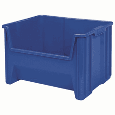 "Stak-N-Store Container Bins-3 Pack-Blue-MEDIUM<br>OD:12-7/16""H x 15-1/4""L x 19-7/8""W"