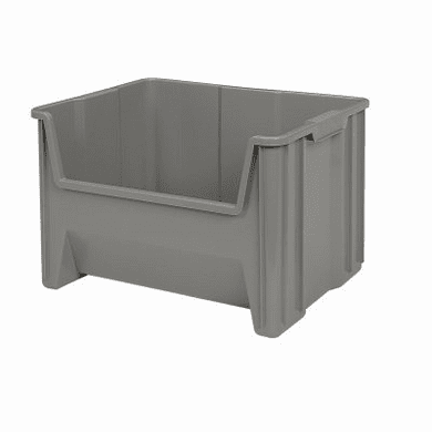 """Stak-N-Store Container Bins-3 Pack-Gray-MEDIUM<br>OD:12-7/16""""H x 15-1/4""""L x 19-7/8""""W"""