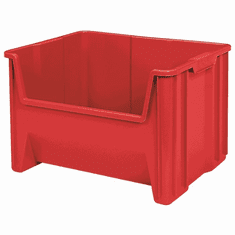 "Stak-N-Store Container Bins -3 Pack-Red-MEDIUM<br>OD:12-7/16""H x 15-1/4""L x 19-7/8""W"