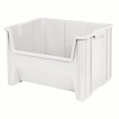 "Stak-N-Store Container Bins -3 Pack-White-MEDIUM<br>OD:12-7/16""H x 15-1/4""L x 19-7/8""W"