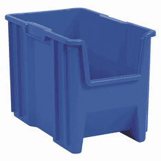 "Stak-N-Store Containers-4PK-Blue-SMALL<br>OD:12-1/2""H x 17-1/2""L x 10-7/8""W"