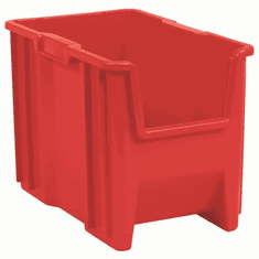 "Stak-N-Store Containers-4PK-Red-SMALL<br>OD:12-1/2""H x 17-1/2""L x 10-7/8""W"